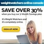 Weight Watchers Canada Promotion Codes – April 2018